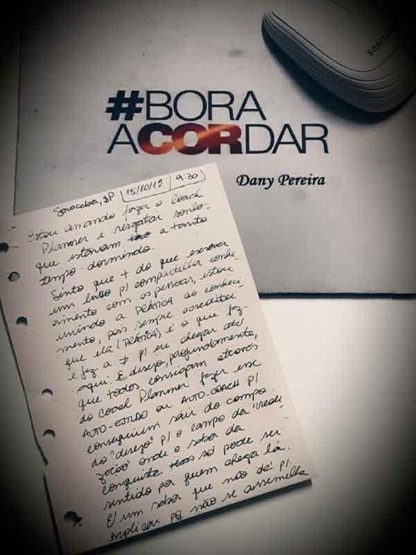 Primeira carta visualizando o Bora Acordar